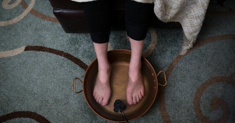 voetbad met azijn